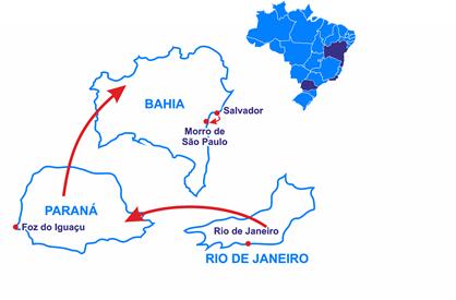 Mapa El Brasil Tropical