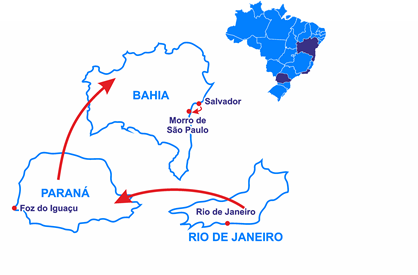 Mapa O Brasil Tropical