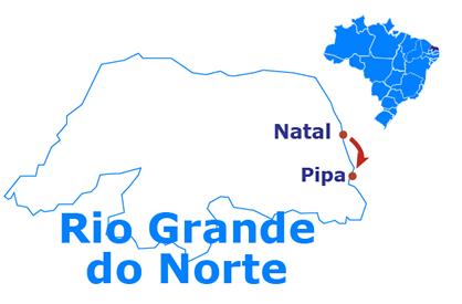 Mapa Natal y Pipa