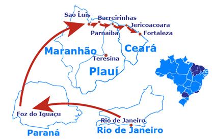 Mapa Brésil: la Grande Aventure