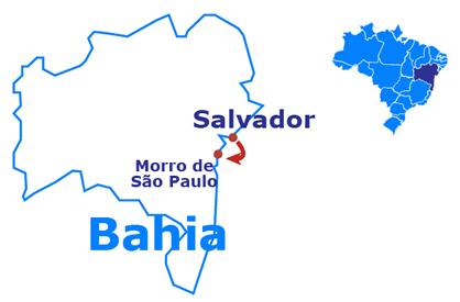 Mapa Morro de São Paulo - 5 dias y 4 noches