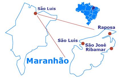 Mapa São José de Ribamar y Raposa